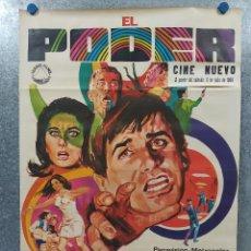 Cine: EL PODER. GEORGE HAMILTON, SUZANNE PLESHETTE, RICHARD CARLSON AÑO 1968. POSTER ORIGINAL. Lote 187322806