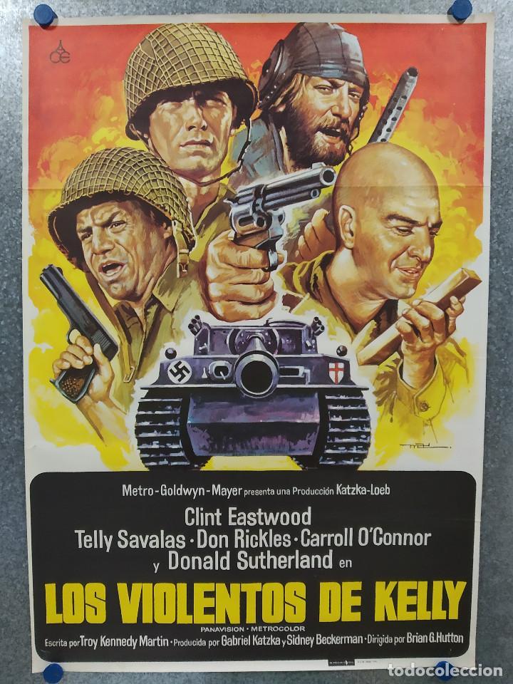 LOS VIOLENTOS DE KELLY.CLINT EASTWOOD, DONALD SUTHERLAND, TELLY SAVALAS. AÑO 1981. POSTER ORIGINAL (Cine - Posters y Carteles - Bélicas)