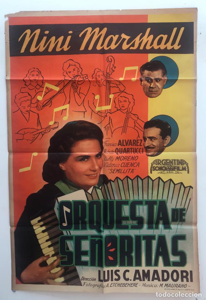 ORQUESTA DE SEÑORITA NINI MARSHALL PEDRO QUARTUCCI LUIS CESAR AMADORI CARTEL ORIGINAL ARGENTINO (Cine - Posters y Carteles - Clasico Español)