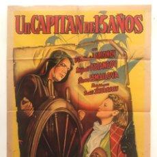 Cine: UN CAPITAN DE 15 AÑOS CARTEL ORIGINAL ARGENTINO. Lote 187372865