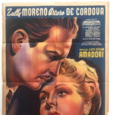 Cine: NACHA REGULES ZULLY MORENO ARTURO DE CORDOVA LUIS CESAR AMADORI CARTEL ORIGINAL ARGENTINO. Lote 187372870