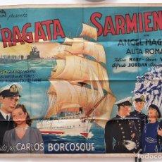 Cine: FRAGATA SARMIENTO ANGEL MAGAÑA ALITA ROMAN CARLOS BORCOSQUE DOBLE CARTEL ORIGINAL ARGENTINO. Lote 187372875