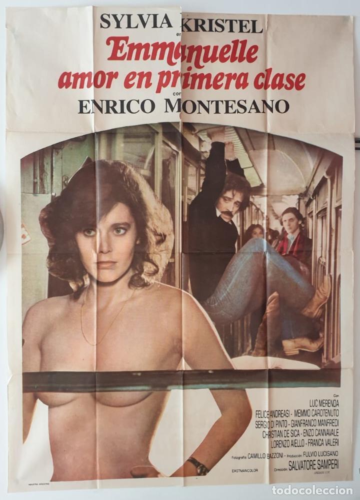 EMMANUELLE AMOR EN PRIMERA CLASE SYLVIA KRISTEL ENRICO MONTESANO CARTEL ORIGINAL ARGENTINO (Cine - Posters y Carteles - Clasico Español)