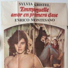 Cine: EMMANUELLE AMOR EN PRIMERA CLASE SYLVIA KRISTEL ENRICO MONTESANO CARTEL ORIGINAL ARGENTINO. Lote 187372876
