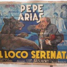 Cine: LOCO SERENATA PEPE ARIAS ALITA ROMAN ELSA O CONNOR LUIS SASLAVSKY DOBLE CARTEL ORIGINAL ARGENTINO. Lote 187372890