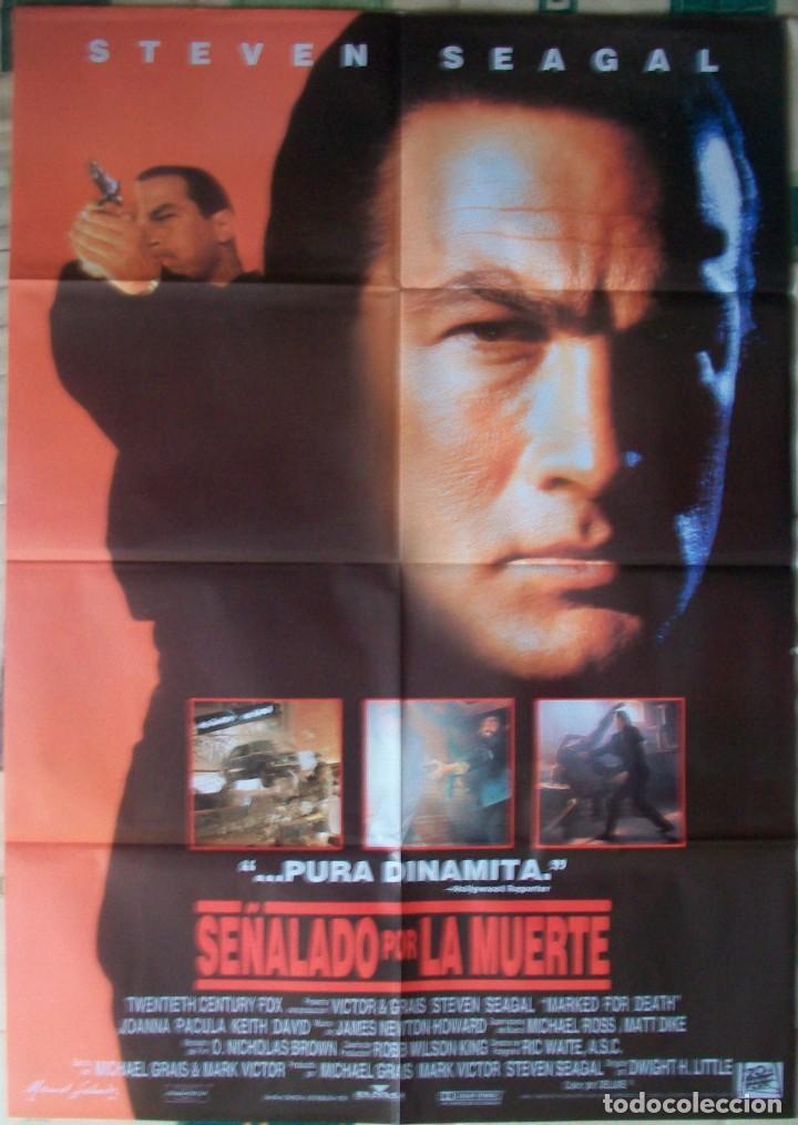 CARTEL ORIGINAL DE LA PELÍCULA SEÑALADO POR LA MUERTE. CON STEVEN SEAGAL (Cine - Posters y Carteles - Acción)