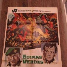 Cinema: CARTEL DE CINE DEL ESTRENO DE LA PELÍCULA BOINAS VERDES, DE JOHN WAYNE (1968). Lote 187542025