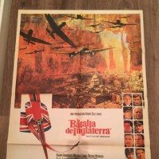 Cinema: CARTEL DE CINE DEL ESTRENO DE LA PELÍCULA LA BATALLA DE INGLATERRA (1969). Lote 187542795