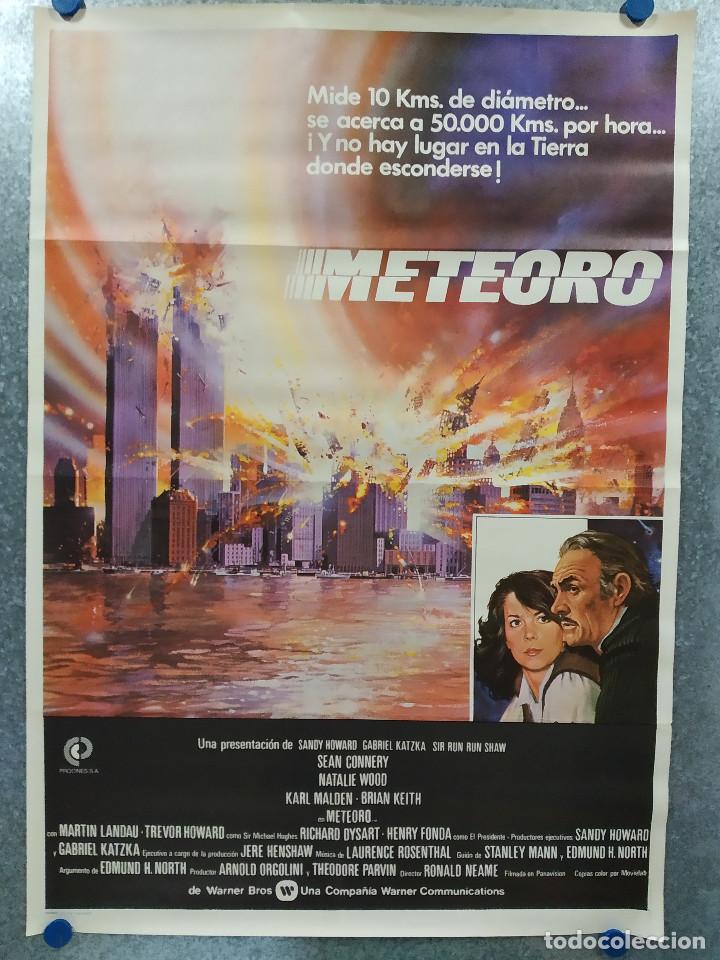 METEORO. SEAN CONNERY, NATALIE WOOD, HENRY FONDA AÑO 1979. POSTER ORIGINAL (Cine - Posters y Carteles - Ciencia Ficción)