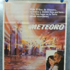 Cine: METEORO. SEAN CONNERY, NATALIE WOOD, HENRY FONDA AÑO 1979. POSTER ORIGINAL. Lote 187599417