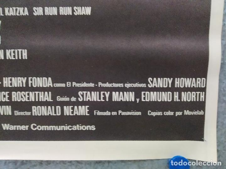Cine: Meteoro. Sean Connery, Natalie Wood, Henry Fonda AÑO 1979. POSTER ORIGINAL - Foto 4 - 187599417