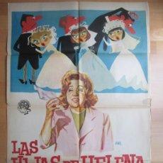 Cine: CARTEL CINE LAS HIJAS DE HELENA ANTONIO OZORES ISABEL GARCES JANO 1964 C1748. Lote 187615480