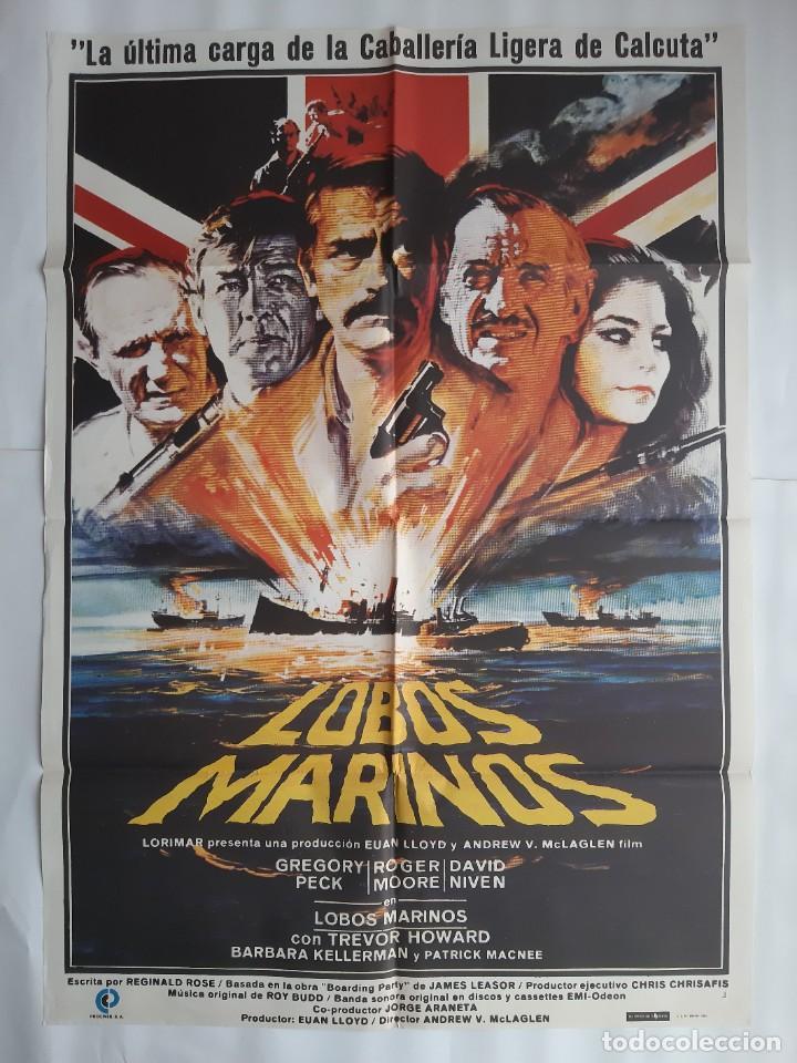 CARTEL CINE LOBOS MARINOS GREGORY PECK 1980 HP C450 (Cine - Posters y Carteles - Bélicas)