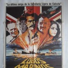 Cinema: CARTEL CINE LOBOS MARINOS GREGORY PECK 1980 HP C450. Lote 188002793