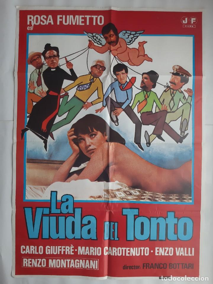 CARTEL CINE LA VIUDA DEL TONTO 1980 HP GRAFICO C464 (Cine - Posters y Carteles - Comedia)