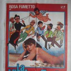 Cine: CARTEL CINE LA VIUDA DEL TONTO 1980 HP GRAFICO C464. Lote 188224957