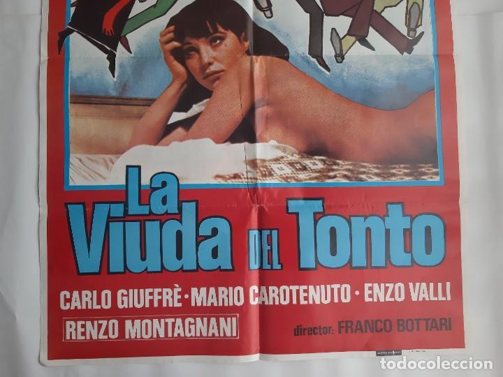 Cine: CARTEL CINE LA VIUDA DEL TONTO 1980 HP GRAFICO C464 - Foto 3 - 188224957