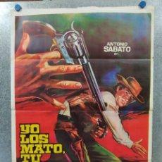 Cine: YO LOS MATO, TU COBRAS LA RECOMPENSA. ANTONIO SABATO, CHRIS AVRAM. AÑO 1972 POSTER ORIGINAL. Lote 188259838