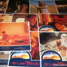 Cine: CINE. LOTE DE 11 AFICHES DE LA PELÍCULA EL CIELO PROTECTOR (1990). BERNARDO BERTOLUCCI. Lote 188655131