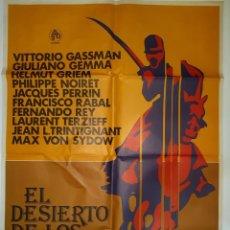 Cinema: CARTEL CINE EL DESIERTO DE LOS TARTAROS PACO RABAL 1977 HP GRAFICO C515. Lote 188761275