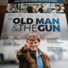 Cine: THE OLD MAN & THE GUN - ROBERT REDFORD, SISSY SPACEK, CASEY AFFLECK - CARTEL ORIGINAL AÑO 2018. Lote 189117825