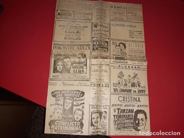 Cine: Poster Se Fiel a ti Mismo con Tyrone Power. Publicidad. año 1942. Unico en Todocolección - Foto 2 - 189217717