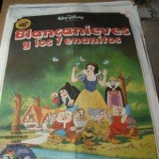 Cine: PÓSTER ORIGINAL DE 100X70CM BLANCA NIEVES Y LOS 7 ENANITOS. Lote 189220068