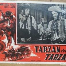 Cine: CARTEL CINE TARZAN CONTA TARZAN WESTERN PRINCIPIOS 50 POR BUSTER CRABBE. Lote 189220286