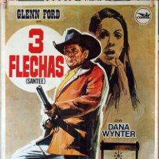 Cine: 3 PISTOLAS. GLENN FORD. CARTEL ORIGINAL 1975 1X0,70 . Lote 189256218