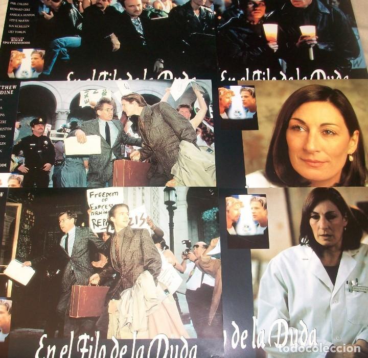 LOTE DE 6 AFICHES/FOTOCROMOS DE LA PELÍCULA EN EL FILO DE LA DUDA (1993). CON M. MODINE Y R. GERE (Cine - Posters y Carteles - Suspense)