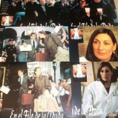 Cine: LOTE DE 6 AFICHES/FOTOCROMOS DE LA PELÍCULA EN EL FILO DE LA DUDA (1993). CON M. MODINE Y R. GERE. Lote 189685706