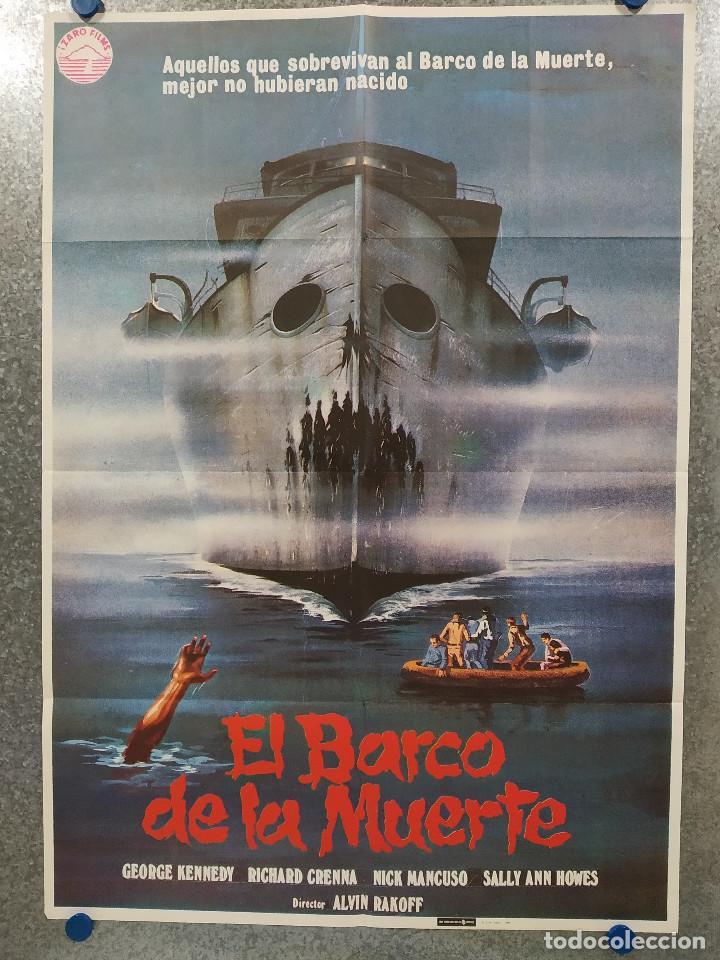 EL BARCO DE LA MUERTE. GEORGE KENNEDY, NICK MANCUSO, SAUL RUBINEK . AÑO 1981. POSTER ORIGINAL (Cine - Posters y Carteles - Terror)