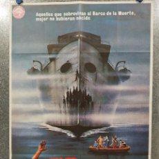 Cine: EL BARCO DE LA MUERTE. GEORGE KENNEDY, NICK MANCUSO, SAUL RUBINEK . AÑO 1981. POSTER ORIGINAL. Lote 189810332