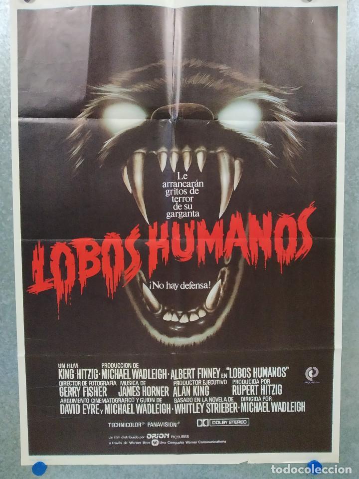 LOBOS HUMANOS. ALBERT FINNEY, DIANE VENORA, EDWARD JAMES OLMOS. AÑO 1982. POSTER ORIGINAL (Cine - Posters y Carteles - Terror)
