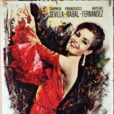 Cine: CAMINO DEL ROCÍO. CARMEN SEVILLA-PACO RABAL. CARTEL ORIGINAL 1967. 70X100. Lote 189916400