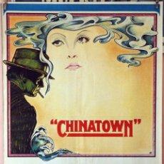 Cine: CHINATOWN. JACK NICHOLSON-FAYE DUNAWAY-JOHN HUSTON. CARTEL ORIGINAL 1974. 70X100. Lote 189916435