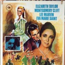 Cine: EL ÁRBOL DE LA VIDA. ELIZABETH TAYLOR-MONTGOMERY CLIFT. CARTEL ORIGINAL 1974. 70X100. Lote 189917052