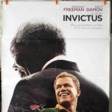 Cine: ORIGINALES DE CINE: INVICTUS (MORGAN FREEMAN, MATT DAMON) 70X100 CMS.. Lote 189969215