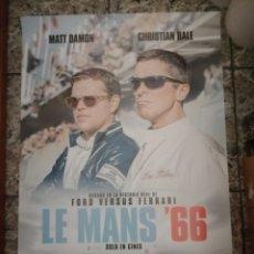 Cinéma: POSTER ORIGINAL LE MANS 66 100X70. Lote 190004763