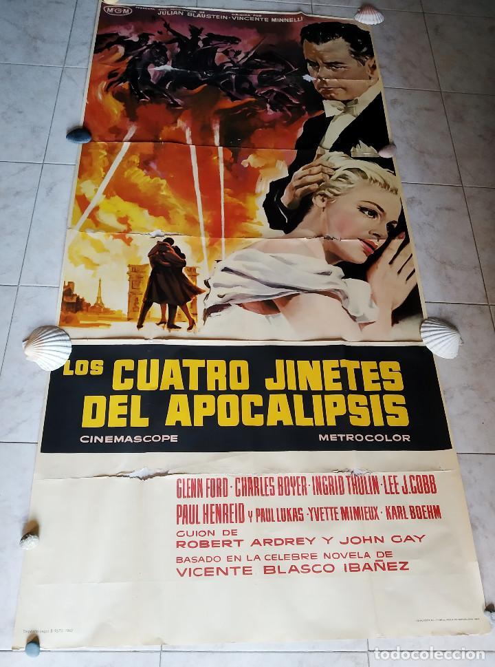 LOS CUATRO JINETES DEL APOCALIPSIS. GLENN FORD, INGRID THULIN AÑO 1962. POSTER 3 HOJAS DE 100 X 70 (Cine - Posters y Carteles - Bélicas)