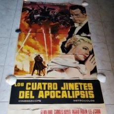 Cine: LOS CUATRO JINETES DEL APOCALIPSIS. GLENN FORD, INGRID THULIN AÑO 1962. POSTER 3 HOJAS DE 100 X 70. Lote 190141070