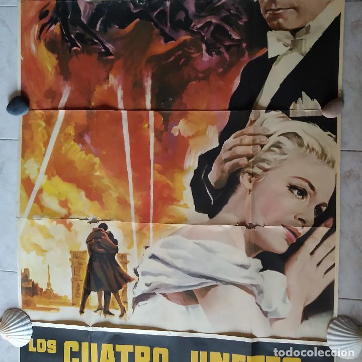 Cine: Los cuatro jinetes del apocalipsis. Glenn Ford, Ingrid Thulin AÑO 1962. POSTER 3 HOJAS DE 100 X 70 - Foto 3 - 190141070
