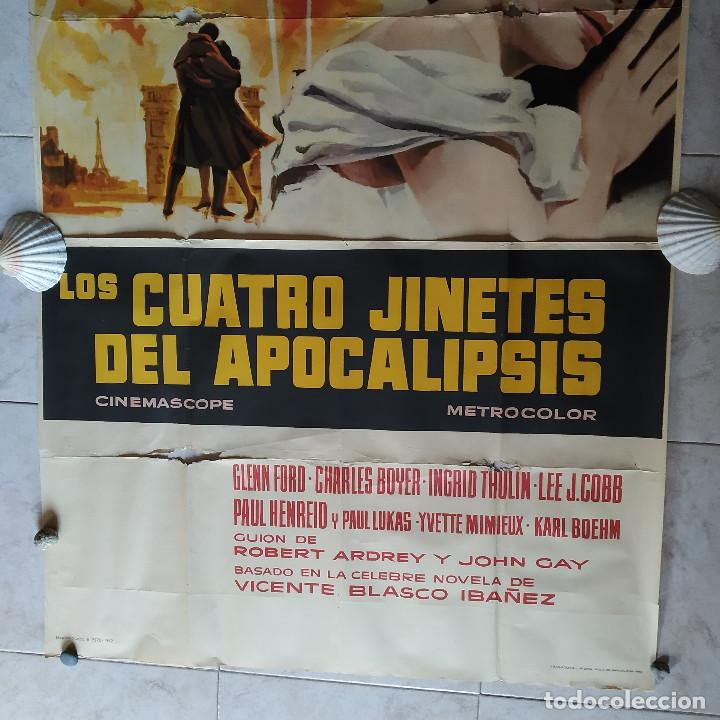 Cine: Los cuatro jinetes del apocalipsis. Glenn Ford, Ingrid Thulin AÑO 1962. POSTER 3 HOJAS DE 100 X 70 - Foto 4 - 190141070