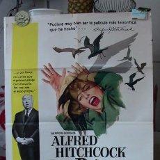 Cine: ORIGINAL SPANISH POSTER THE BIRDS LOS PAJAROS ALFRED HITCHCOCK TIPPI HEDREN 1963. Lote 190160871