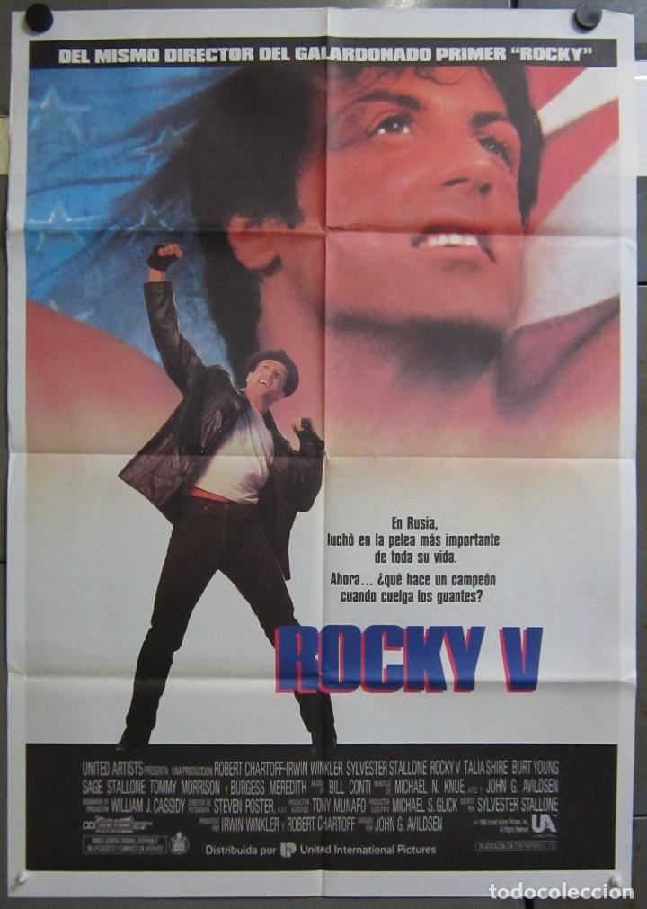 AAC75 ROCKY V SYLVESTER STALLONE POSTER ORIGINAL 70X100 ESTRENO (Cine - Posters y Carteles - Comedia)