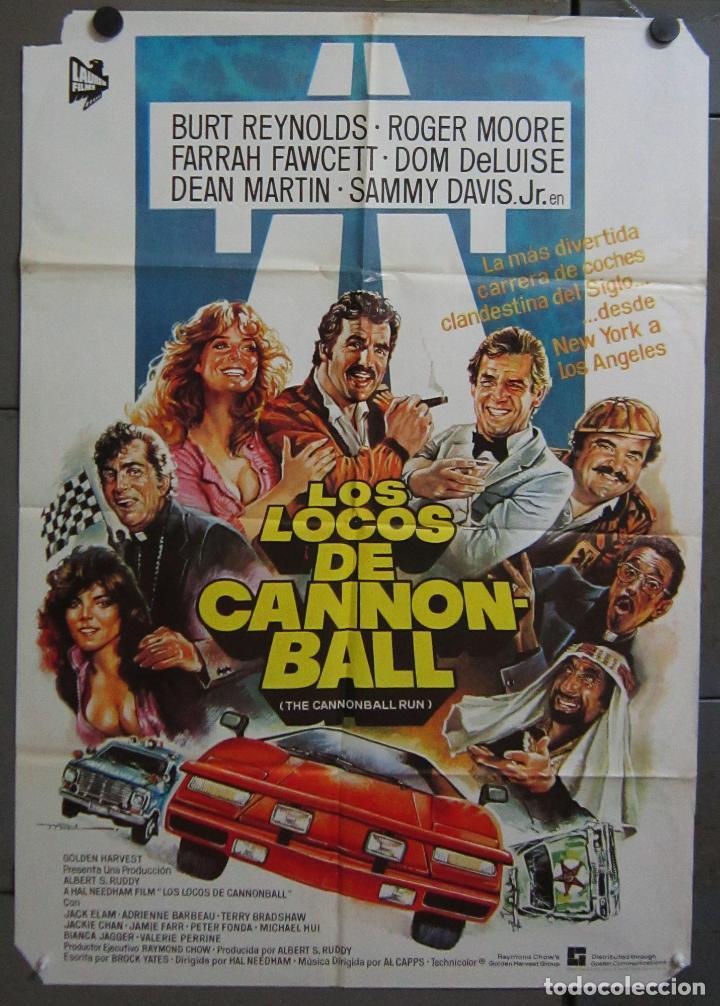 AAC70 LOS LOCOS DE LA CANNONBALL BURT REYNOLDS AUTOMOVILISMO MAC POSTER ORIGINAL 70X100 ESTRENO (Cine - Posters y Carteles - Comedia)