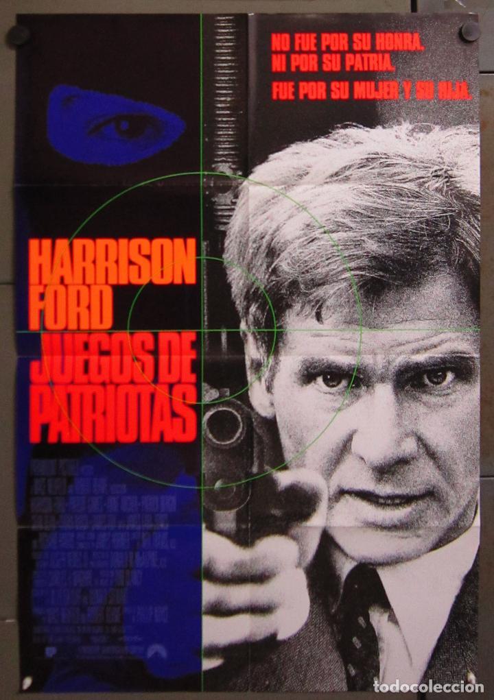 AAC69 JUEGOS DE PATRIOTAS HARRISON FORD TOM CLANCY POSTER ORIGINAL 70X100 ESTRENO (Cine - Posters y Carteles - Comedia)