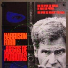 Cine: AAC69 JUEGOS DE PATRIOTAS HARRISON FORD TOM CLANCY POSTER ORIGINAL 70X100 ESTRENO. Lote 190200863