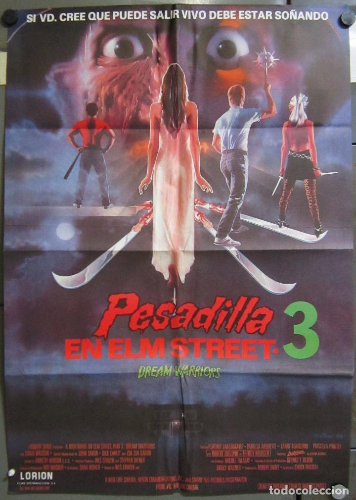 AAC48 PESADILLA EN ELM STREET 3 ROBERT ENGLUND POSTER ORIGINAL 70X100 ESTRENO (Cine - Posters y Carteles - Terror)