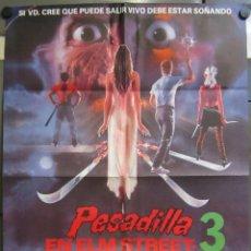 Cine: AAC48 PESADILLA EN ELM STREET 3 ROBERT ENGLUND POSTER ORIGINAL 70X100 ESTRENO. Lote 206950562